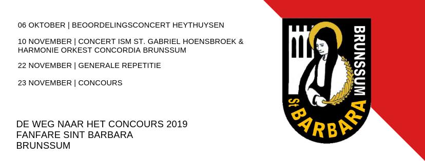 Programma-2019--Fanfare Sint Barbara, Brunssum
